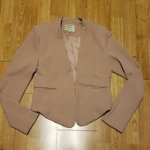Iris blush knit blazer sz medium